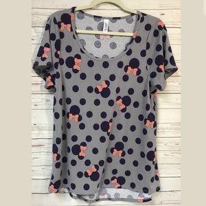 LuLaRoe Minnie Mouse Classic T-Shirt Large Disney
